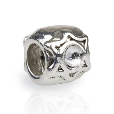 Pandora Big Diamond Silver Bead With Stone