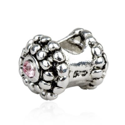 Pandora Shiny Diamond Pink Bead With Stone