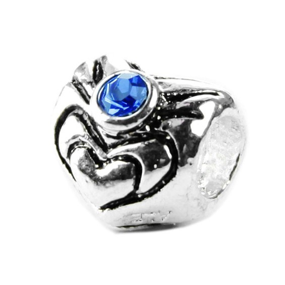 Pandora A-Series Silver And Blue Bead With Stone