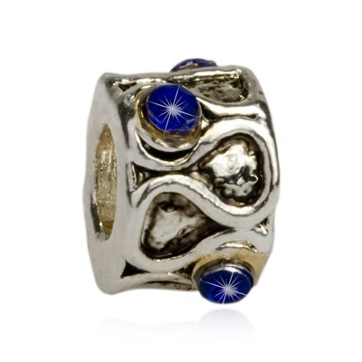 Pandora Diamond Blue Bead With Stone