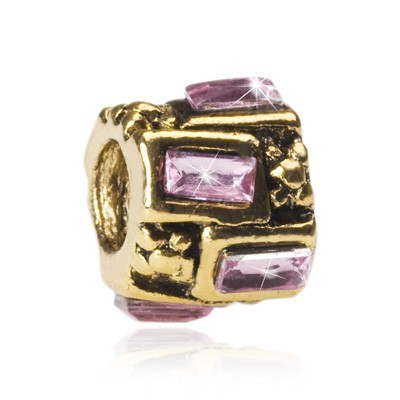 Pandora Diamond Pink Bead With Stone