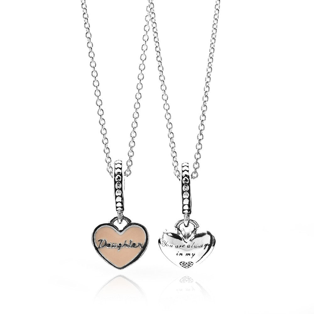 Pandora Mother and Daughter Hearts Complete Necklace Set pandora53-1012