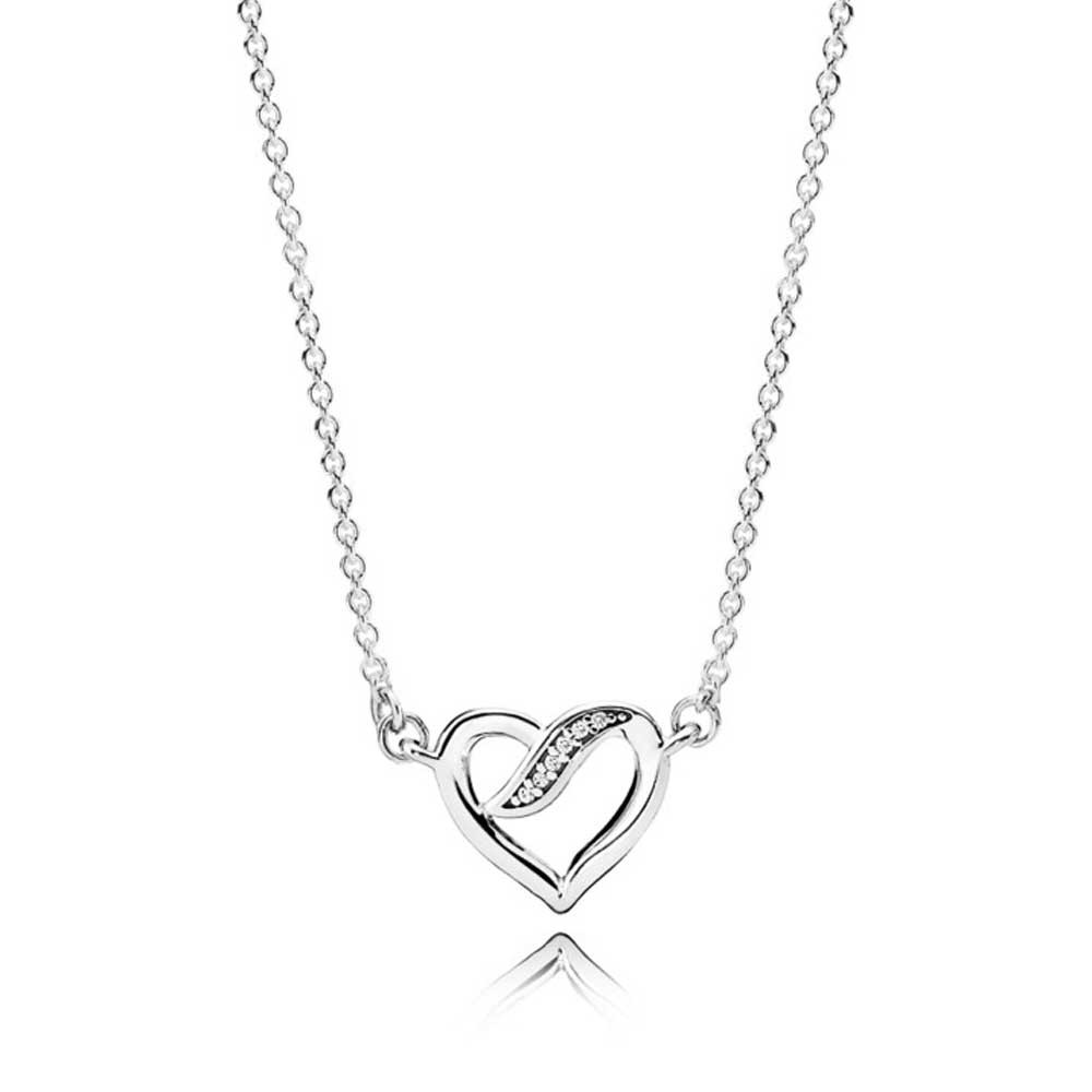 Pandora Ribbon of Love Necklace pandora53-826