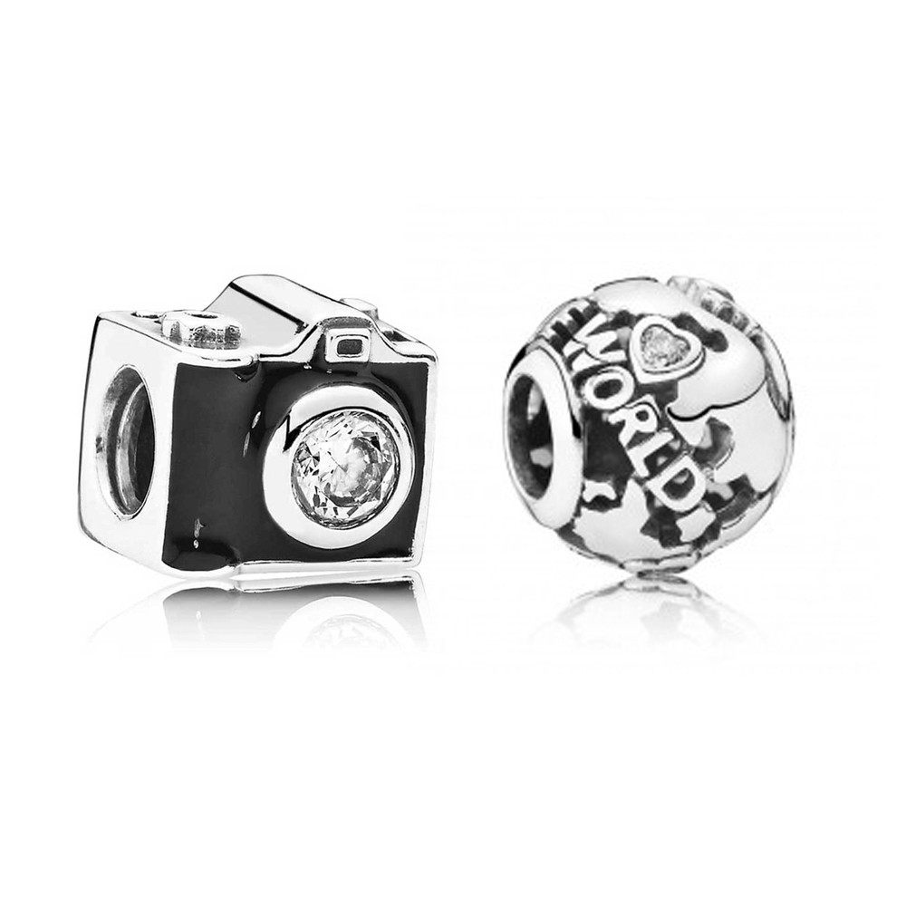Pandora Silver Around The World Charm Set pandora53-564