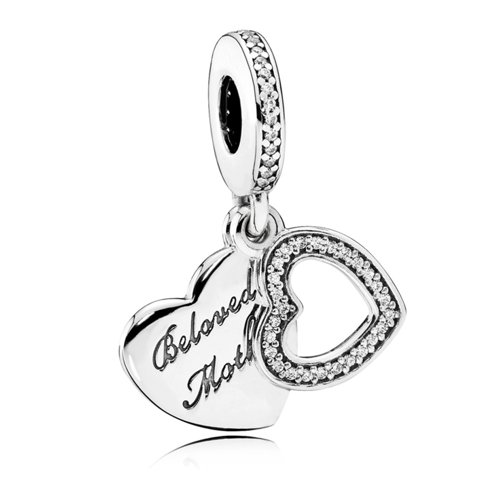 Pandora Silver Beloved Mother Pendant Charm pandora53-545