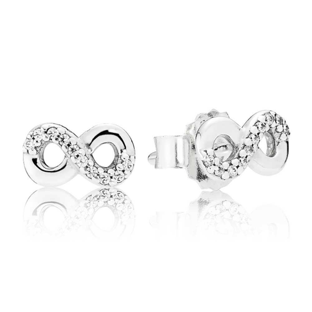 Pandora Silver Infinity Love Earrings pandora53-317